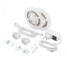 Set LED-Streifen Bedlight V-TAC SMD2835 2.8W 260LM 1.2M mit PIR-Sensor-Doppelbett Dimmbar VT-8068 – SKU 2550 Warmweiß 3000K