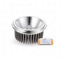 V-Tac VT-1120 Faretto Incasso Spot LED COB AR111 20W 20° Bianco Naturale 4500K + Driver - SKU 1244