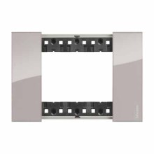3 modules Bticino Living Now plate aura color KA4803DM