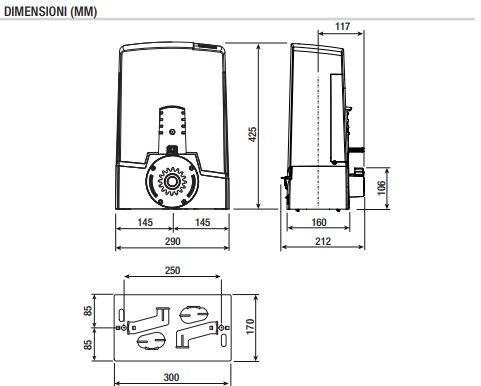 Motorisation Portail Coulissant 600kg 24v Came Bxv06agf