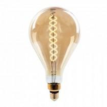 V-Tac VT-2138D Lampada Bulbo 8W E27 xl A160 doppio filamento spirale vetro Ambra 2200K Dimmable – sku 7461