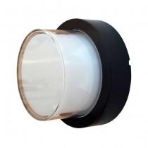 V-TAC VT-831 Applique murale 7W lumière blanc chaud 3000K corps noir ronde IP65 - sku 8611