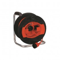 Cable reel 50m central plug italian std. 2P+E 16A and socket std. 2P+E 16A trailer-mounted GOLIA GARDEN Fanton 11193