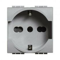 Bticino NT4140/16 presa schuko tedesca 2P+T per serie Living Light grigio tech