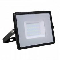 V-TAC PRO VT-30 30W Led Floodlight black slim chip samsung SMD cold white 6400K - SKU 402