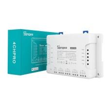 Interruttore universale smart switch WiFi controllo 4Ch linee indipendenti con modulo ricevitore RF 433MHz temporizzazione guida DIN SONOFF 4CHPROR3
