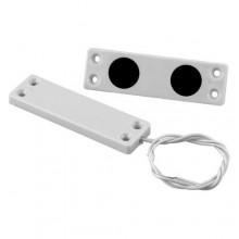 Contatto magnetico ultrapiatto in plastica doppio magnete UP10 Bianco