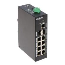 Dahua PFS3211-8GT Switch industriel 9 Ports + 2 Ports SFP 1000Mbps sans gestion L2 Rail DIN