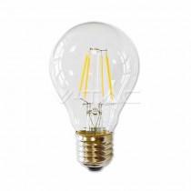 V-Tac VT-1885 Lampadina  LED filamento A60 E27 4w Vetro trasparente 2700K - 4259