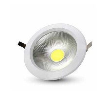 V-TAC VT-26101 10W led COB downlight round cold white 6400K - SKU 1272