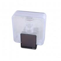 Luce lampeggiante wireless con pannello fotovoltaico integrato