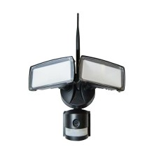 V-Tac VT-4818 Projecteur 18W avec caméra wifi et capteur PIR blanc froid 6400K corps noir IP44 - SKU 5917