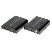 Estensore RX+TX segnale video HDMI+USB 1080p UTP cat5e/cat6 over ip - 100M