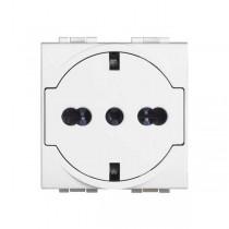 Bticino N4140 / 16F FLAT socket standard German Italian schuko Livino Light white