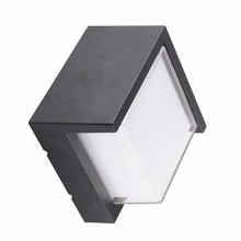V-TAC VT-827 12W wall light day white 4000K square black body IP65 waterproof - sku 8540