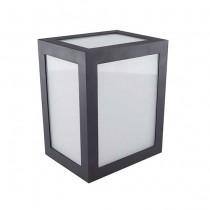 V-TAC VT-822 12W led wall light cube black body warm white 3000K IP65 - SKU 8340