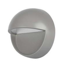 V-TAC VT-1182 Lampada applique LED 3W parete segnapasso tondo grigio IP65 bianco caldo 3000K - SKU 1406