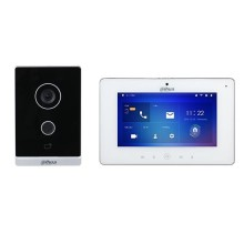 """Dahua DHI-KTW01 Kit Interphone vidéo Station extérieure WiFi sans fil et moniteur d'intérieur tactile 7"""" 1080p app mobile & cloud IP65"""