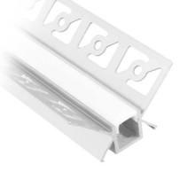 V-TAC VT-8104 Profilo in alluminio angolari a scomparsa da 2M milky cover per striscia LED - sku 3362