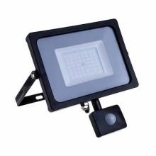 V-TAC PRO VT-20-S 20W led pir sensor floodlight SMD chip samsung warm white 3000K slim black body IP65 - SKU 451