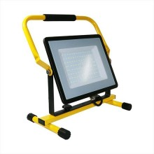 V-TAC VT-109 100W LED work floodlight chip samsung with Stand And EU Plug Schuko 3MT Black/yellow Body cold white 6400K IP65 - SKU 20125