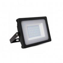 Faro LED SLIM Nero 30W 100° 2550LM IP65 SMD A+ Mod. VT-4933B-Bianco Naturale