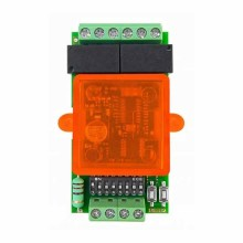 Two channels 433MHz universal mini radio-receiver for light groups Nologo RX2-LUCI
