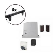 Kit system for sliding gate NICE ROX600 600kg 230V + 6M Rack in Nylon