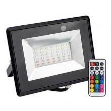 V-TAC VT-4932 30W LED Flutlicht-Reflektor RGB mit Infrarot Fernbedienung Körper schwarz schlank IP65 - sku 5995