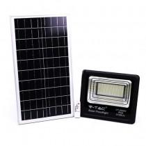 V-TAC VT-200W Faro led 200W autoalimentato nero con pannello solare 40W e telecomando 6000K IP65 – sku 94026