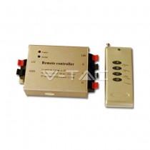 Controller striscia LED RGB con telecomando 4 tasti Mod. VT-2404