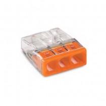 Wago 2273-203 Bornes pour boîtes de dérivation 3-conducteurs fil 0.5..2.5 mm² - 10pcs