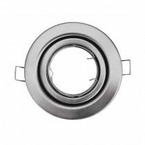 Portafaretto incasso alluminio rotondo satinato orientabile GU10-GU5.3