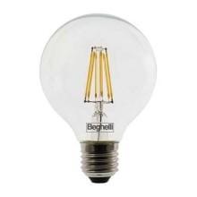 Beghelli 56447 Ampoule globe Zafiro LED 12W filament SMD G120 E27 Haute lumens 1600LM blanc chaud 2700K A++
