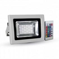 V-TAC VT-4711 10W LED Floodlight RGB Multicolor SMD with IR remote control - sku 5895