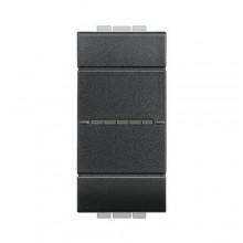Interruttore Bticino Livinglight  ax 1P 10A 1m antracite - L4051N