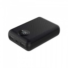 V-TAC VT-3501 Power Bank 10.000mah 2 sortie micro USB 2.1A corps abs noir - sku 8188