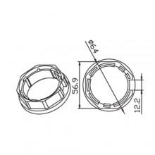 Octagonal adapter Ø 45 MM 60 X 0.8 MM CAME 001YK5102