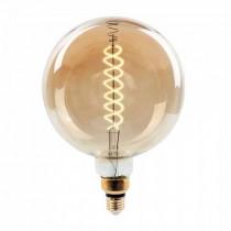 V-Tac VT-2158D Lampada globo 8W E27 xl G200 doppio filamento spirale vetro ambra 2000K Dimmable – sku 7462