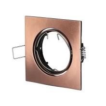 V-TAC VT-779SQ GU10-GU5.3 Beschlag Metallic Bronze quadratischer 30° Verstellbarer für LED Spotlights - SKU 8582
