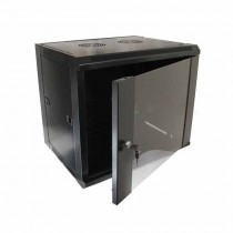 "Hanging Rack Cabinet Black RAL9004 19"" 9U 450mm"