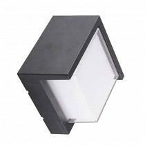 V-TAC VT-827 Lampada LED 12W bianco caldo 3000K corpo quadrato nero waterproof IP65 - sku 8539