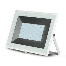V-TAC VT-40101 100W LED flutlicht ultra slim e-series neutralweiß 4000K weiß körper IP65 - SKU 5968