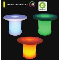 V-TAC VT-7812 5W led coffee table garden light rgb rechargeable battery and remote control IP54 - sku 40251