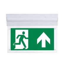 V-TAC VT-519-S 2W Led Emergency Exit Sign wall surface mount inclinable chip samsung no black-out Battery IP20 - sku 836