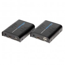 RX+TX Extender HDMI+USB 1080p UTP cat5e/cat6 over ip - 100M