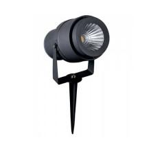 V-TAC VT-857 Picchetto giardino led cob 12W luce verde orientabile corpo grigio IP65 - SKU 7552