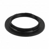 Ring for E27 lamp holder body black Fanton 62821