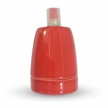 V-TAC VT-799 E27 lamp holder red porcelain IP20 - SKU 3799