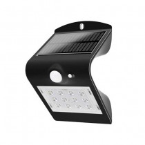 V-TAC VT-767-2 1.5W LED solar wall light for external IP65 + PIR sensor black color - SKU 8277